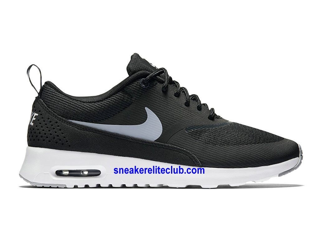 chaussures de running nike wmns air max thea prix femme pas cher noir gris 599409 007 1609052590. Black Bedroom Furniture Sets. Home Design Ideas