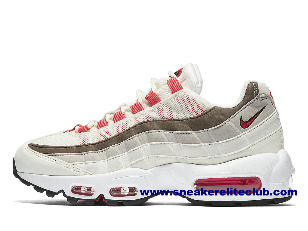 Chaussures Femme Nike Air Max 95 Prix Pas Cher Blanc/Rouge/Brun 307960_102