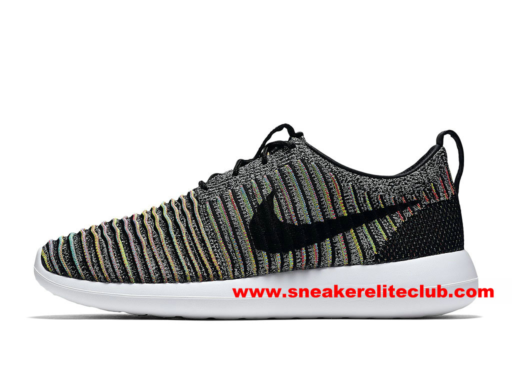 Chaussures Femme Nike Roshe Two Flyknit Prix Pas Cher Camo/Noir/Blanc 844834_001