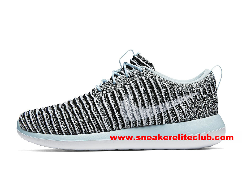 Chaussures Femme Nike Roshe Two Flyknit Prix Pas Cher Gris/Bleu/Blanc 844929_402