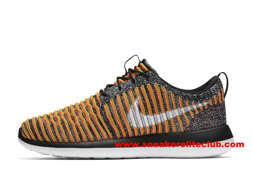 Chaussures Femme Nike Roshe Two Flyknit Prix Pas Cher Orange/Blanc/Gris 844929_005