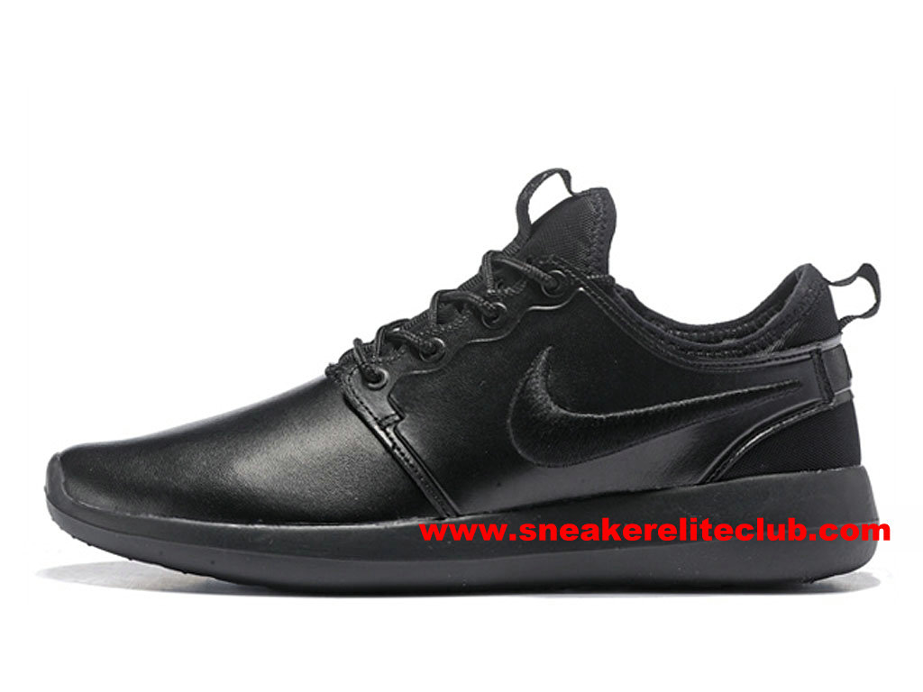 Chaussures Femme NikeLab Roshe Two Leather PRM ID Prix Pas Cher All Noir 876521_ID001