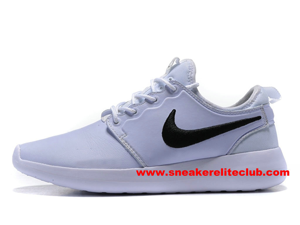 Chaussures Femme NikeLab Roshe Two Leather PRM ID Prix Pas Cher Blanc/Noir 876521_ID004
