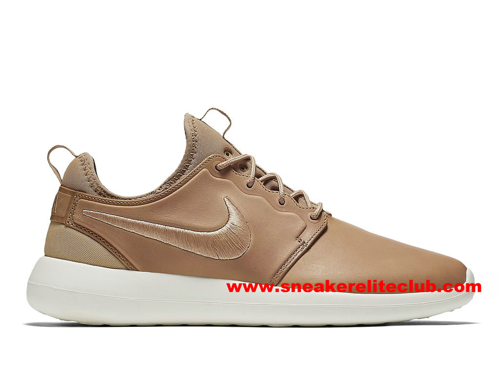 Chaussures Femme NikeLab Roshe Two Leather PRM Prix Pas Cher Brun 876521_200