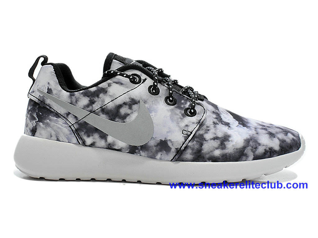 Chaussures Femme Pas Cher Nike Roshe One Print Gris 655206-I05