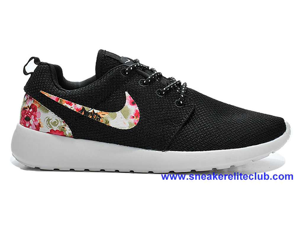 Chaussures Femme Pas Cher Nike Roshe One Print Noir/Blanc/Camo 599432-A004