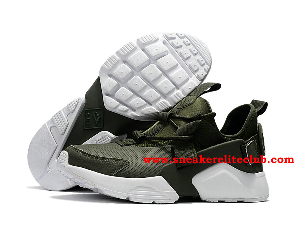 Chaussures Homme Nike Air Huarache Run Ultra Pas Cher Prix Olive Green White
