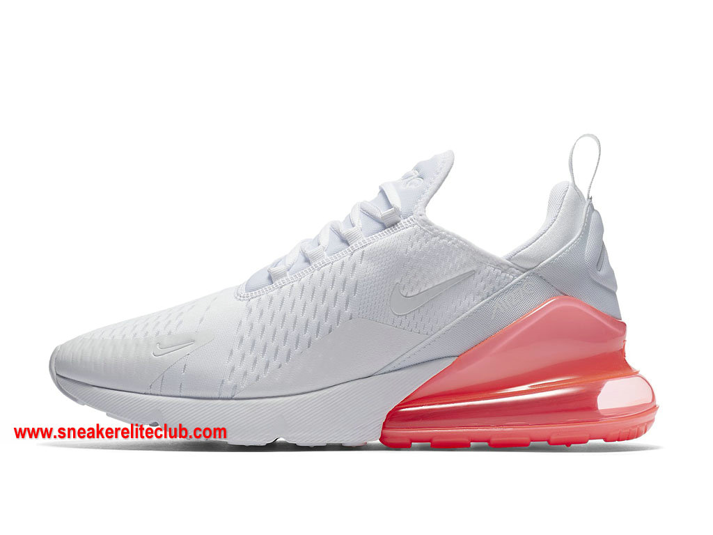new concept 57597 d9e7c Chaussures Homme Nike Air Max 270 Pas Cher Prix Blanc Rose AH8050 103 ...