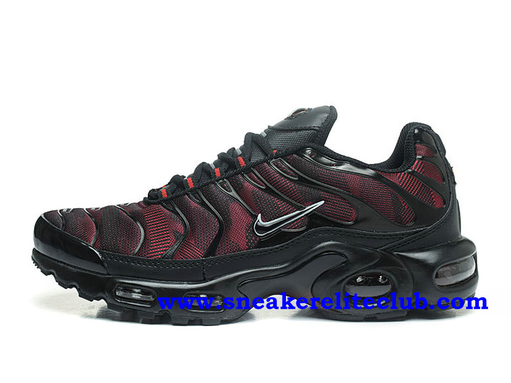 Chaussures Homme Nike Air Max Plus TN Ultra Pas Cher Prix Noir/Rouge 881560_ID004