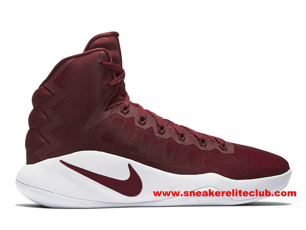 Chaussures Homme Nike Hyperdunk 2016 Team Prix Pas Cher Rouge/Blanc 844368_661
