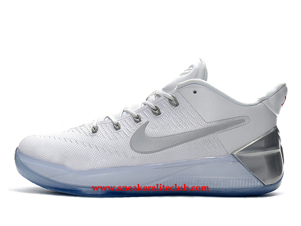 Chaussures Homme Nike Kobe A.D. BasketBall Prix BasketBall Pas Cher Blanc/Argent 852425_A006