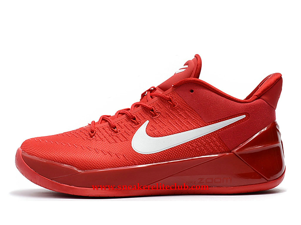 Chaussures Homme Nike Kobe A.D. BasketBall Prix BasketBall Pas Cher Rouge/Blanc 852425_A003