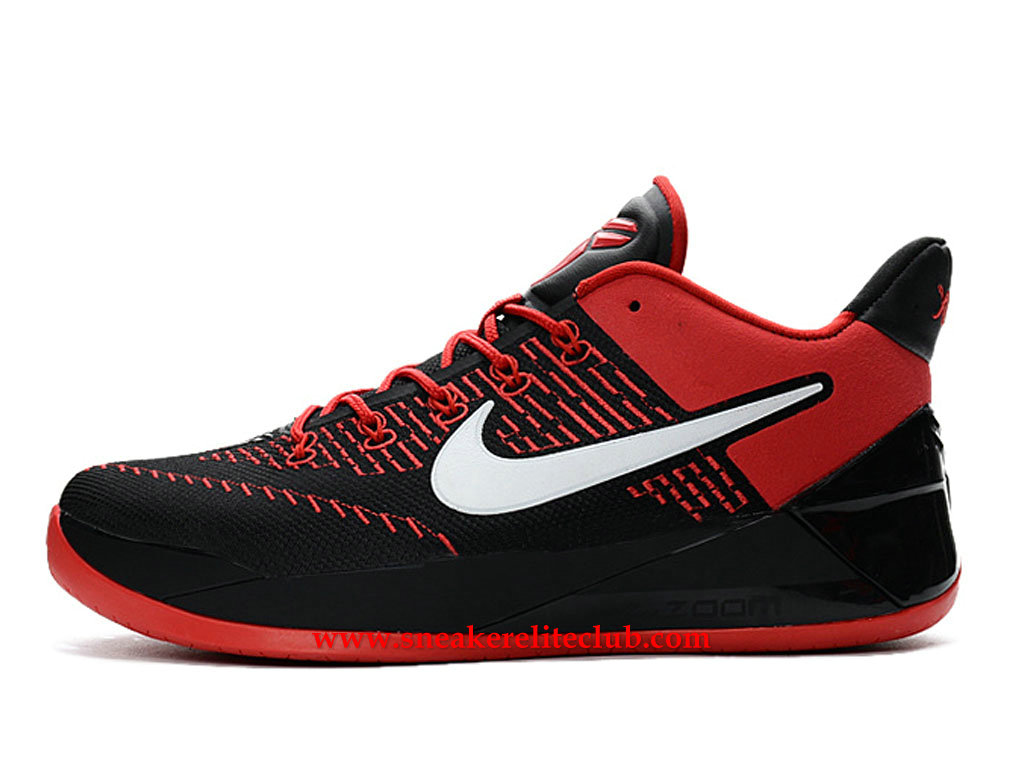 Chaussures Homme Nike Kobe A.D. BasketBall Prix BasketBall Pas Cher Rouge/Blanc/Noir 852425_A008