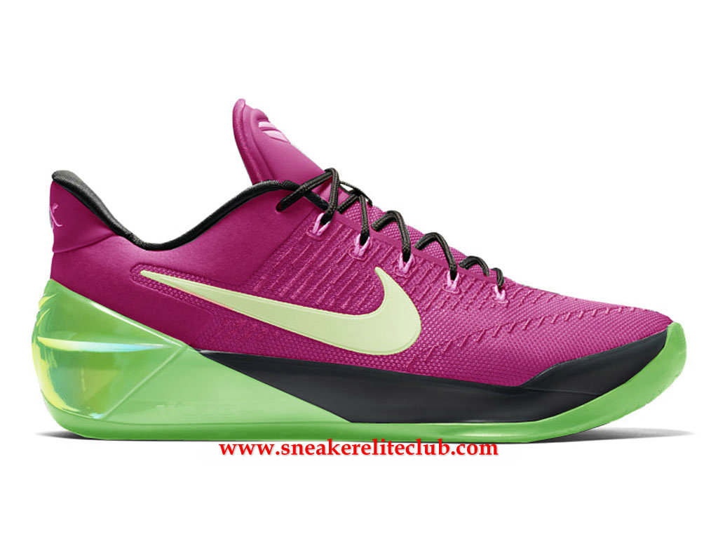 Chaussures Homme Nike Kobe A.D. Mambacurial BasketBall Prix BasketBall Pas Cher Pourpre/Vert/Noir 852425_A700