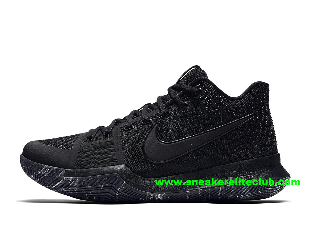 Chaussures Homme Nike Kyrie 3 BasketBall Prix Pas Cher Triple Black 852396_005