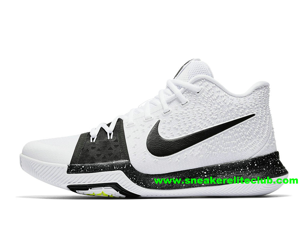 Chaussures Homme Nike Kyrie 3 Cookies and Cream BasketBall Prix Pas Cher Blanc Noir 917724_100