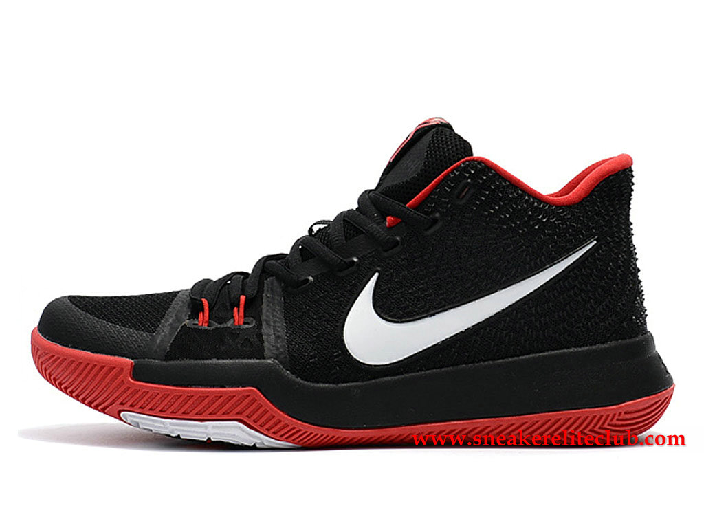 Chaussures Homme Nike Kyrie 3 ID BasketBall Prix Pas Cher Noir/Blanc/Rouge 852395_I016
