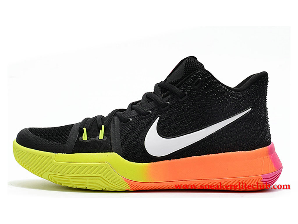 Chaussures Homme Nike Kyrie 3 ID BasketBall Prix Pas Cher Noir/Blanc/Vert/Orange 852395_I017