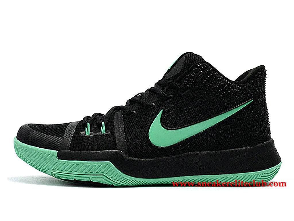 Chaussures Homme Nike Kyrie 3 ID BasketBall Prix Pas Cher Noir/Vert 852395_I015