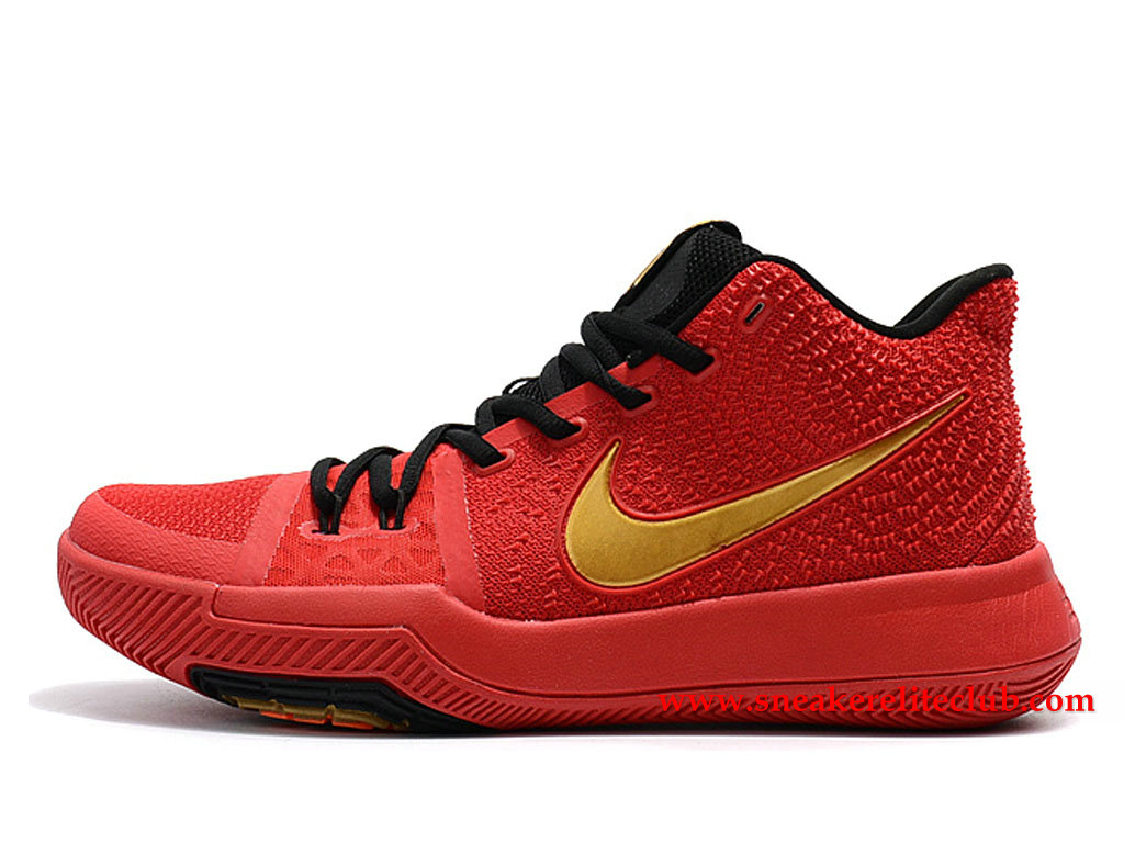 Chaussures Homme Nike Kyrie 3 ID BasketBall Prix Pas Cher Rouge/Noir/Or 852395_I014