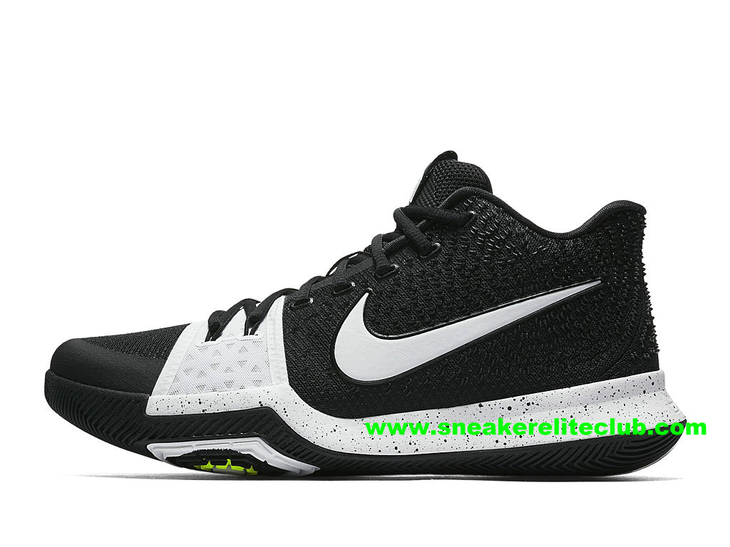 Chaussures Homme Nike Kyrie 3 Tuxedo BasketBall Prix Pas Cher Noir Blanc 917724_001