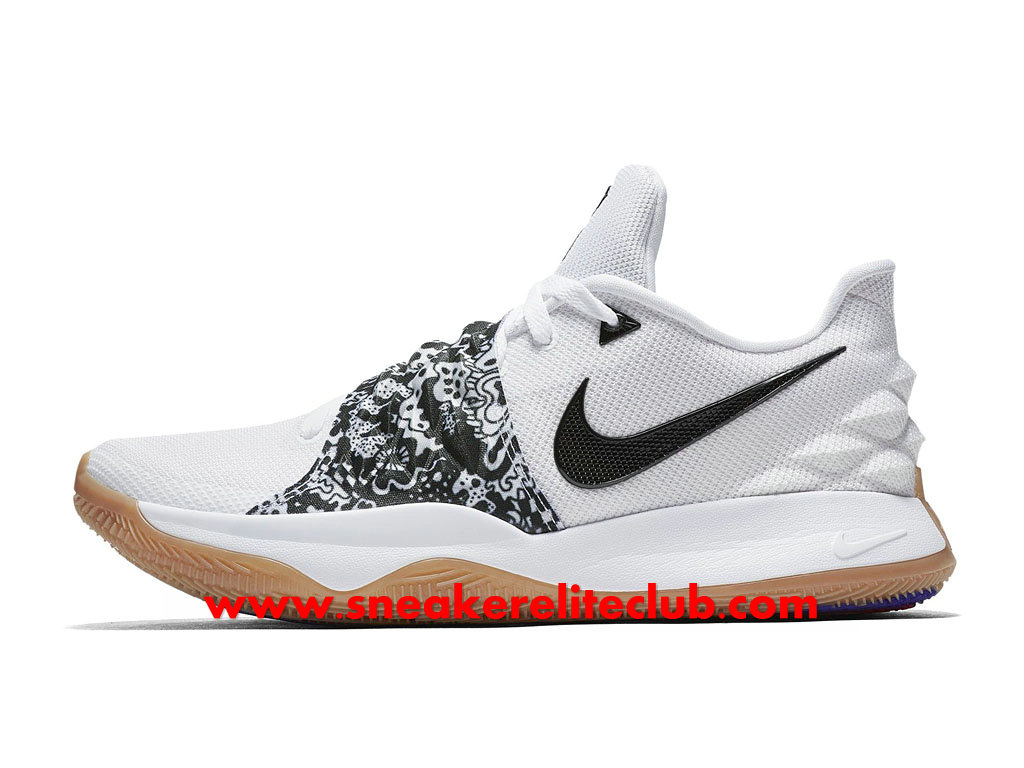 Chaussures Homme Nike Kyrie 4 Low Prix Pas Cher White Black AO8979-100