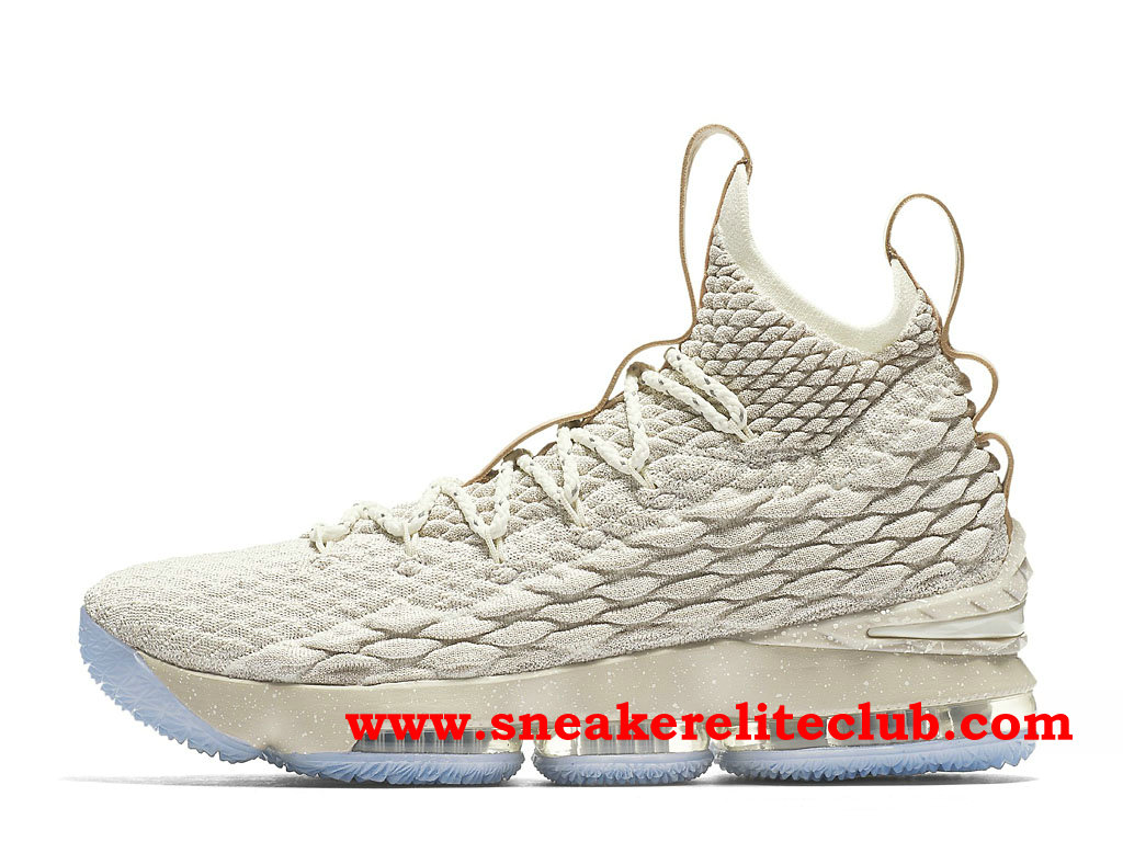 Chaussures Homme Nike Lebron 15 Pas Cher Prix Beige White 897648_200