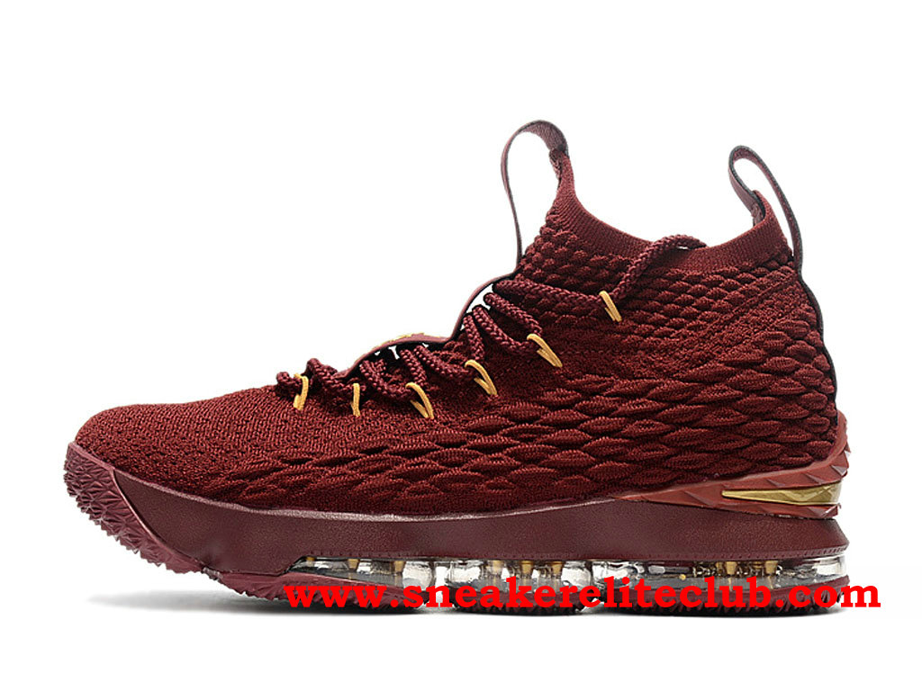 Chaussures Homme Nike Lebron 15 Pas Cher Prix Brun 897648_ID001