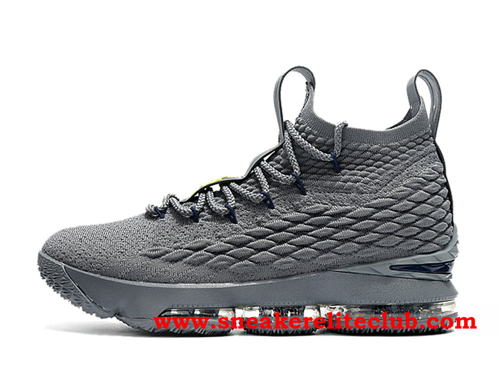Chaussures Homme Nike Lebron 15 Pas Cher Prix Gris 897648_ID008