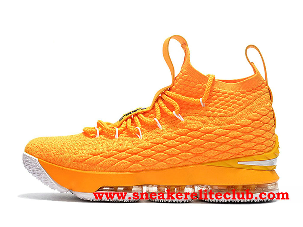 Chaussures Homme Nike Lebron 15 Pas Cher Prix Jaune 897648_ID004
