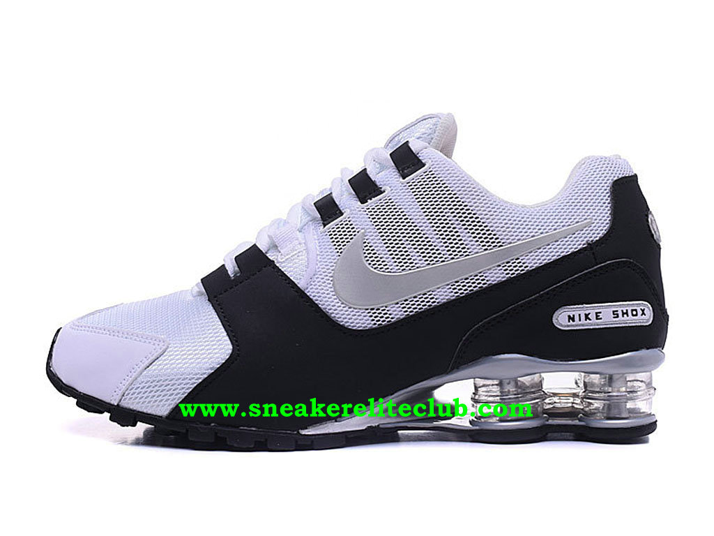 check out a4eb5 8ed8c Chaussures Homme Nike Shox Pas Cher Prix Blanc Noir ...