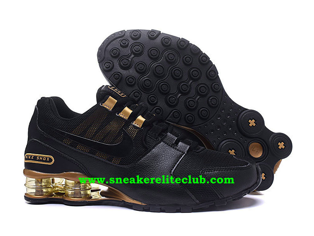 new product bb273 b837b ... Chaussures Homme Nike Shox Pas Cher Prix Noir Or ...