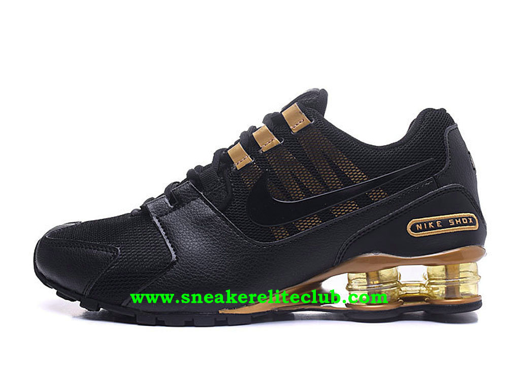 Chaussures Homme Nike Shox Pas Cher Prix Noir Or