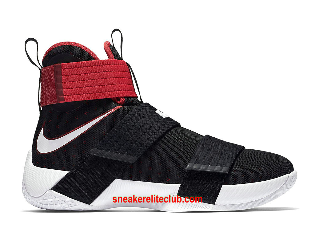 Chaussures Homme Nike Zoom LeBron Soldier 10 Prix Pas Cher Rouge Noir Blanc 844374_016