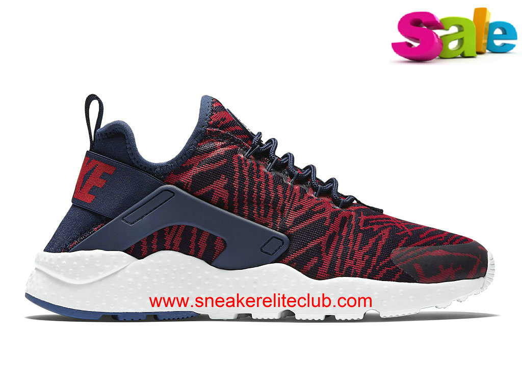 Chaussures Nike Air Huarache Run Ultra Jacquard Femme Pas Cher Blue/Red 818061_400