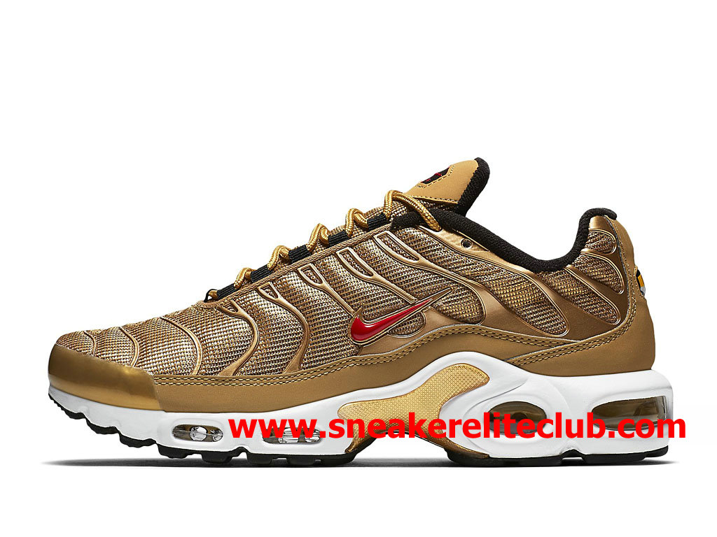 Chaussures Nike Air Max Plus TN Homme Pas Cher Prix Or Rouge 887092_700