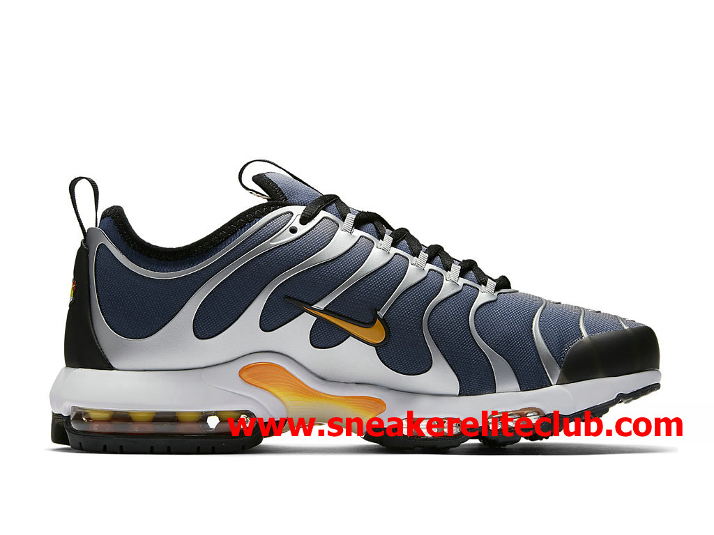 newest 932a0 64fe1 ... Chaussures Nike Air Max Plus TN Ultra Homme Pas Cher Prix Bleu Argent Or  ...