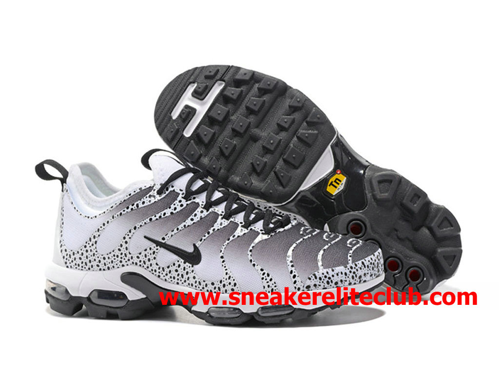 new products 44c23 8c23b ... Chaussures Nike Air Max Plus TN Ultra Homme Pas Cher Prix Noir Blanc  Gris ...