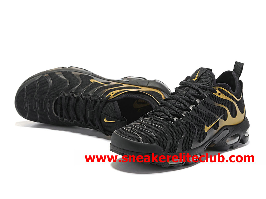 buy popular eab07 999ee ... Chaussures Nike Air Max Plus TN Ultra Homme Pas Cher Prix Noir Or  903827_A007 ...