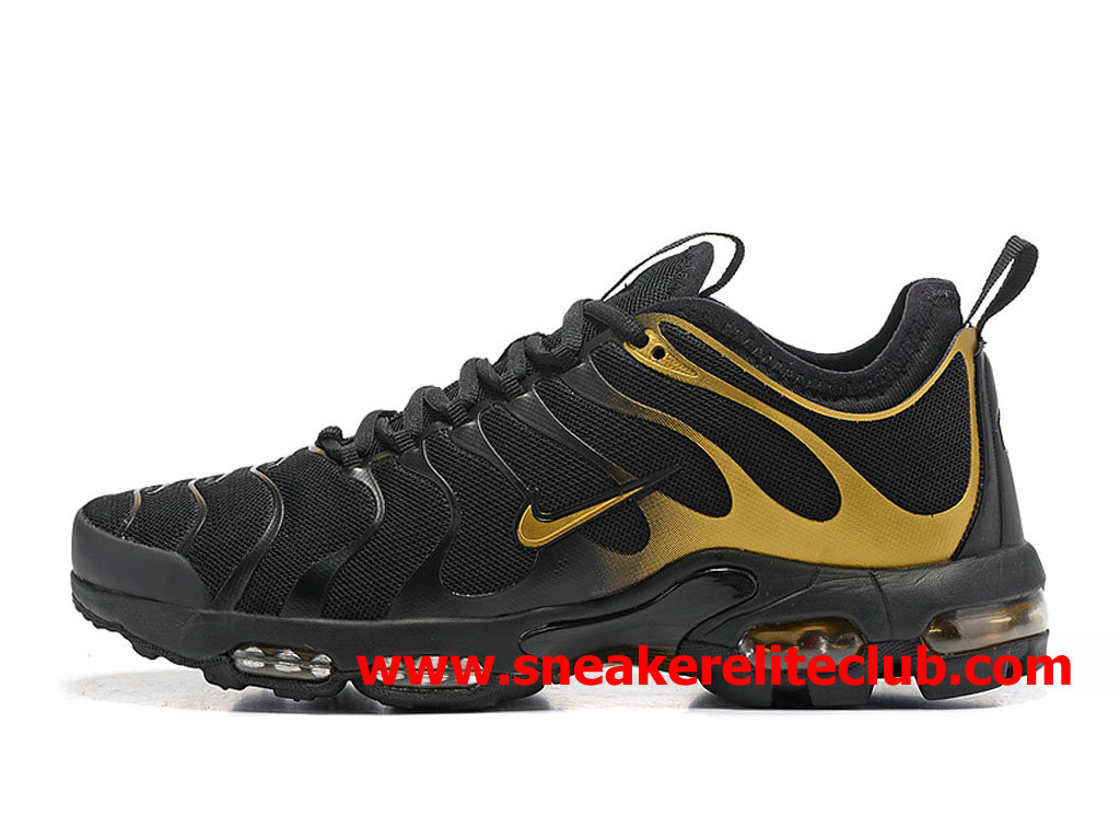 Chaussures Nike Air Max Plus TN Ultra Homme Pas Cher Prix Noir Or 903827_A007
