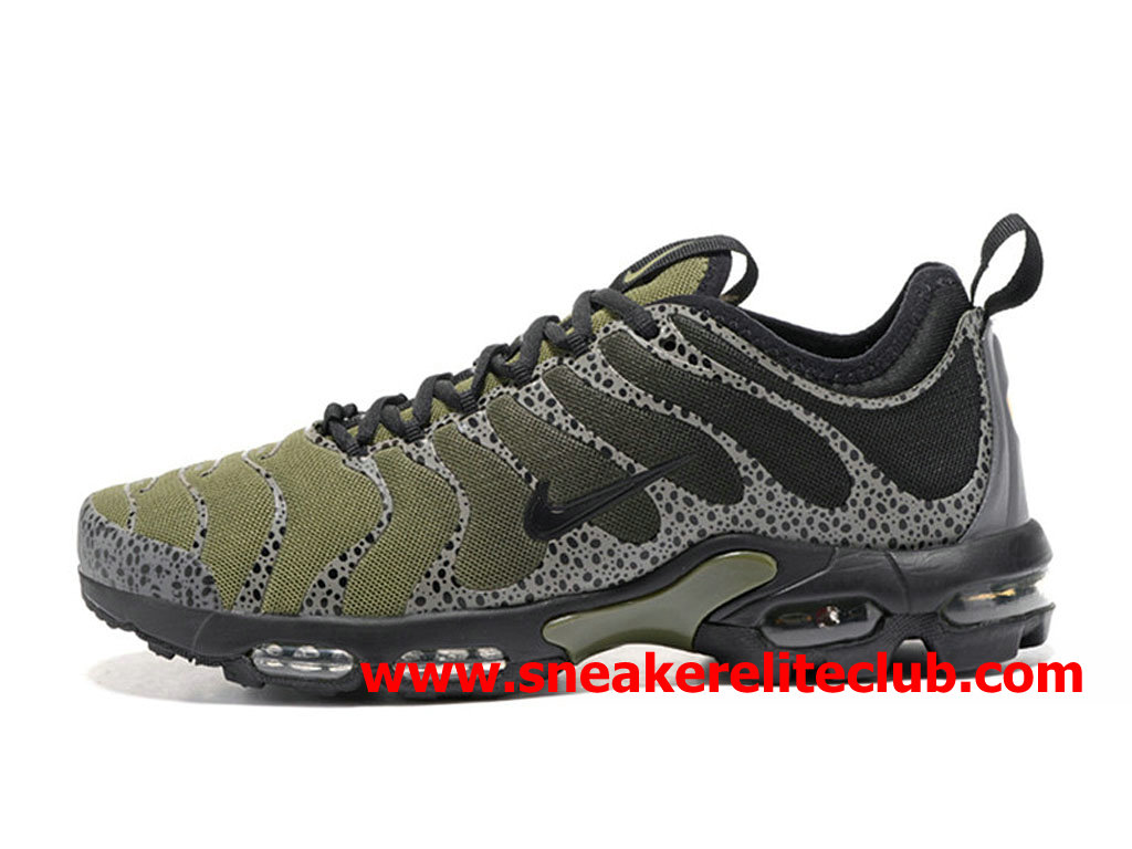 Chaussures Nike Air Max Plus TN Ultra Homme Pas Cher Prix Olive Green Black