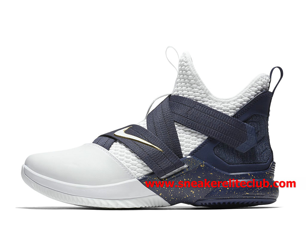 bce922b6714 Shoes Nike Lebron Soldier XII 12 Men´s Cheap Price Blue White AO4055 100