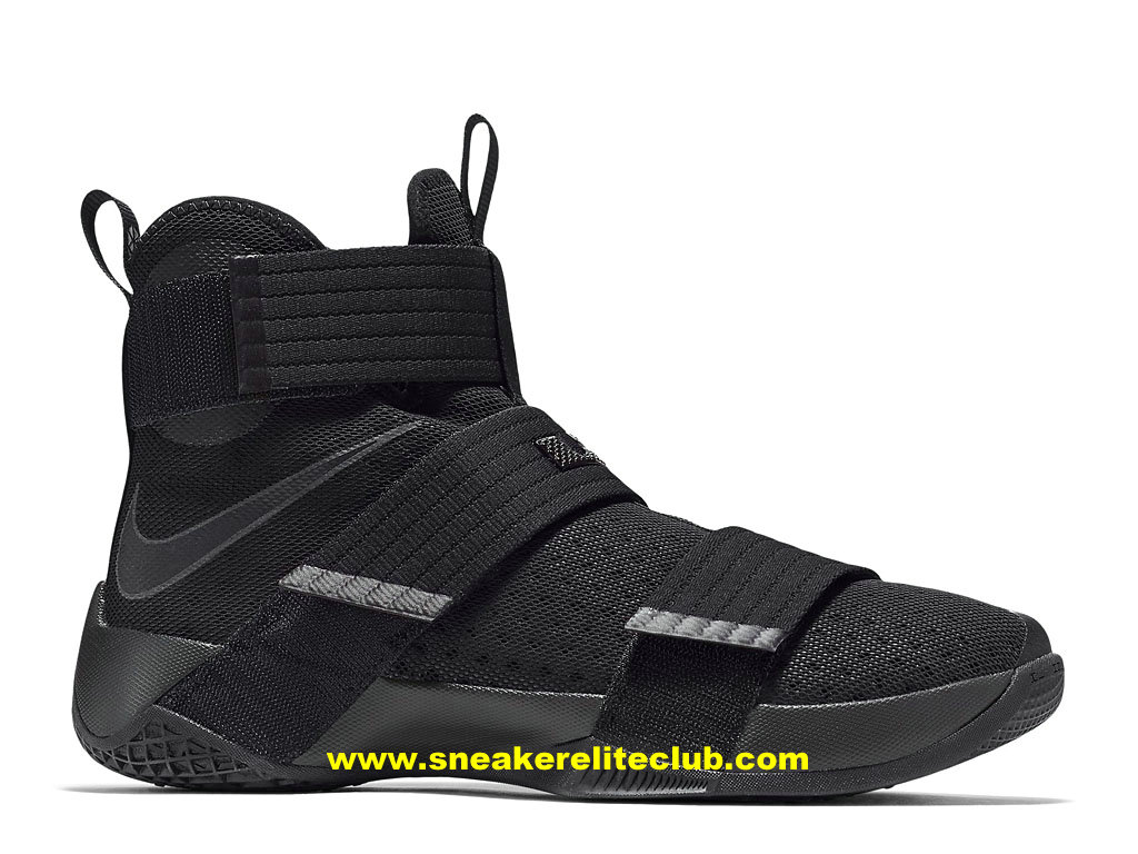 Chaussures Nike Zoom LeBron Soldier 10 Pas Cher Pour Homme All Noir 844375_001