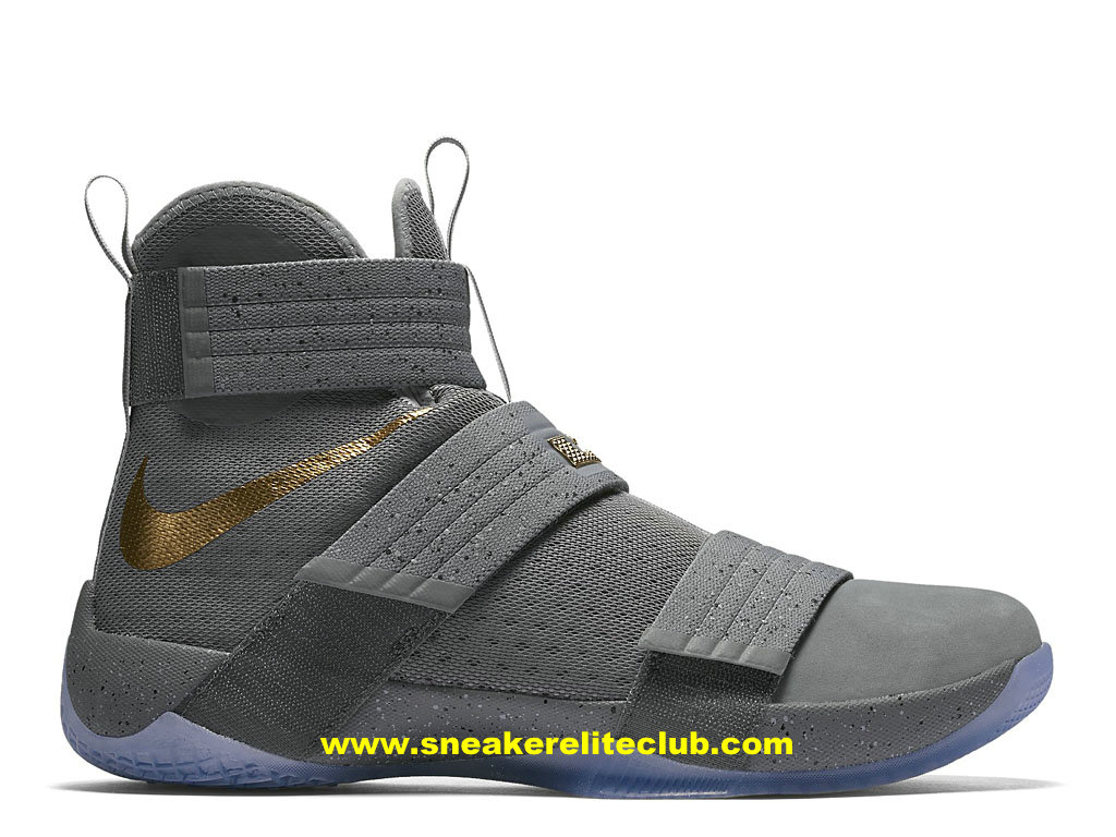 Chaussures Nike Zoom LeBron Soldier 10 Pas Cher Pour Homme Battle Grey 899620_010