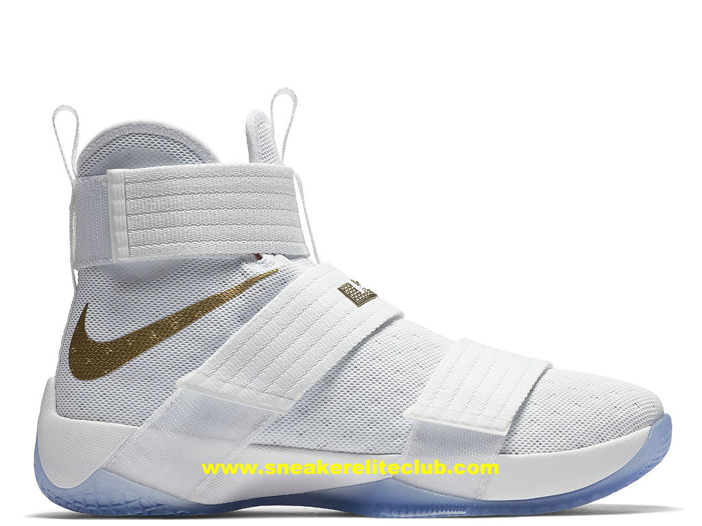 211acf9387d Nike Zoom LeBron Soldier 10 Cheap Men´s Shoes White Gold 925431 900 ...