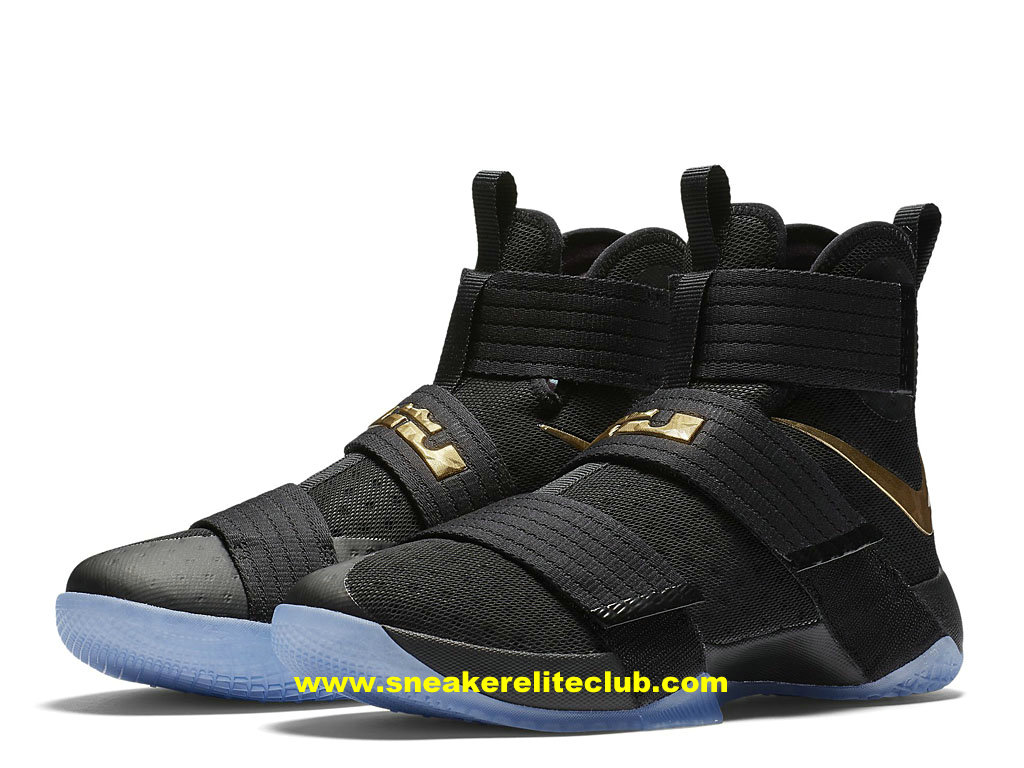 moins cher f6411 90a55 usa nike lebron soldier 10 noir or 7ddca 28579