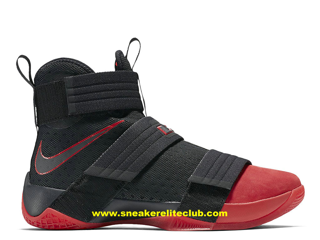 Chaussures Nike Zoom LeBron Soldier 10 Pas Cher Pour Homme Noir/Rouge 852400_060