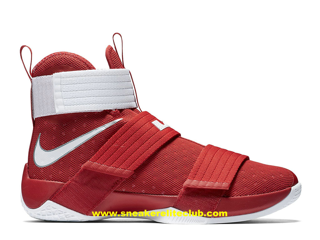 Chaussures Nike Zoom LeBron Soldier 10 Pas Cher Pour Homme ROuge/Blanc 844380_601