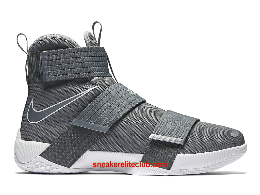 Chaussures Nike Zoom LeBron Soldier 10 Prix Homme Pas Cher Gris 844374_002