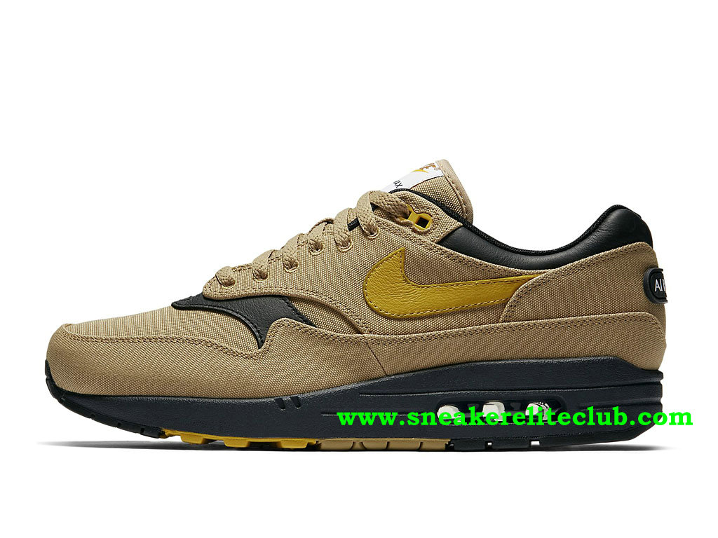 Chaussures Running Homme Nike Air Max 1 Prix Pas Cher Gold/Mineral Yellow/Black 875844_700